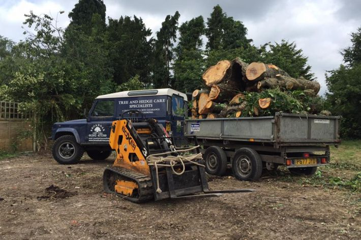 Specialist machinery used to clear a site for a commercial client in Bournemouth